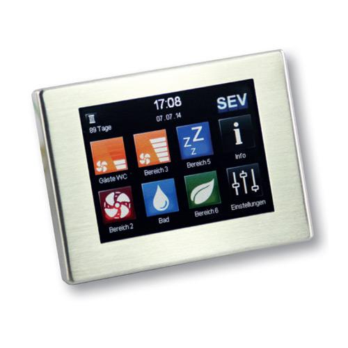 MoveAir SEC-Touch Decentrale WTW warmteterugwinning besturingen